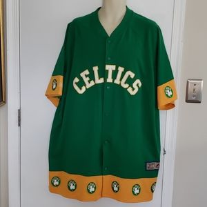 Vintage NBA Celtics Warm Up Jacket Size XXL